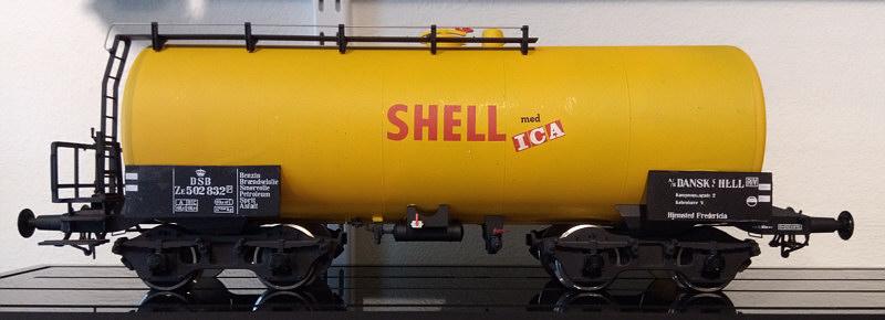 SHELL tankvogn DSB litra ZE 502 832