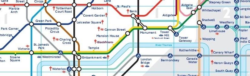 ÖPNV in Londons Zentrum