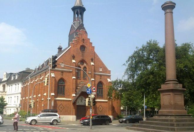 Pfarrhaus, Friedenskirche und Friedensplatz, Oldenburg