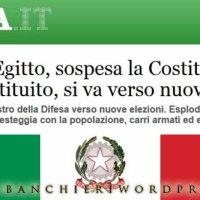 L'Egitto copia l'Italia e sospende la Costituzione