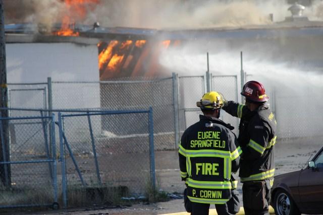 Civic Stadium Fire Firefighters