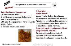 coquillettes aux boulettes de boeuf COOKEO