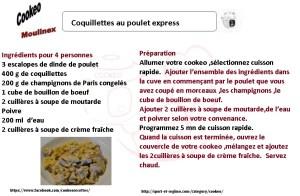 COQUILLETTES POULET