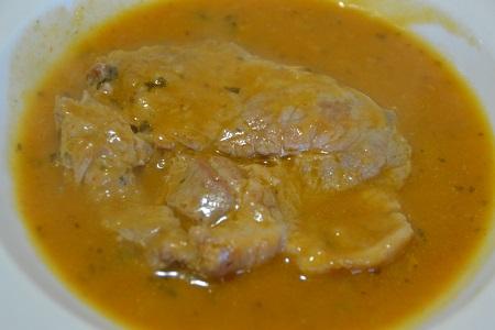 cote de porc sauce charcutière
