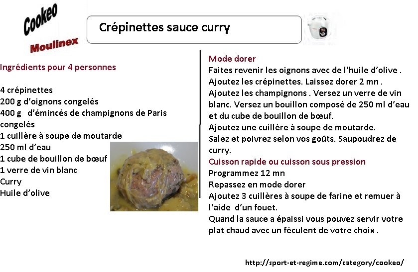 crépinettes sauce curry