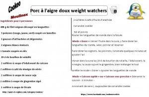 fiche cookeo w watchers pors aigre doux