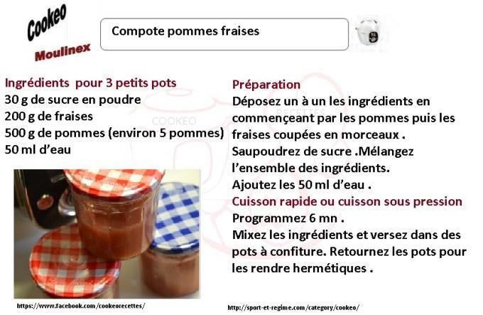 compote pommes fraises