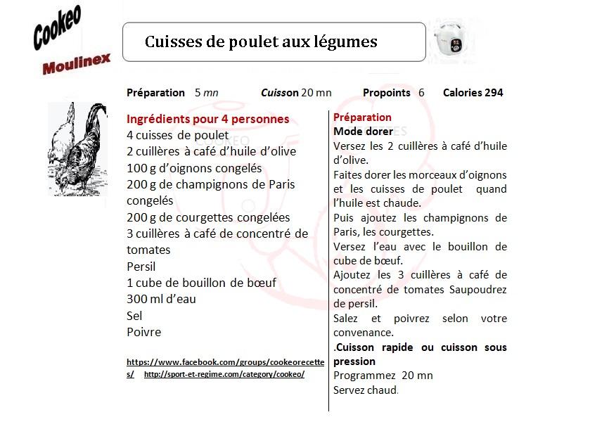 CUISSES DE POULET AUX LEGUMES