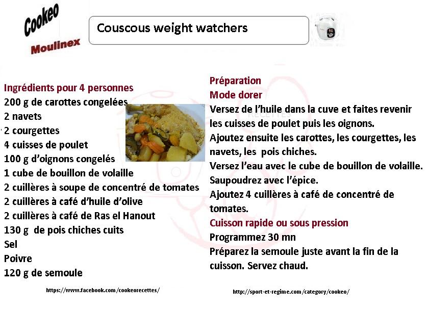 couscous ww fiche