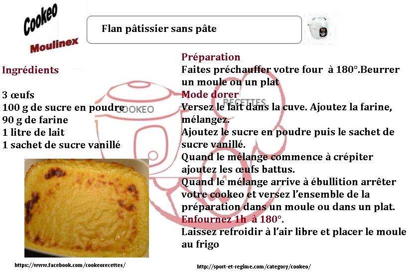 Flan pâtissier sans pâte au cookeo.