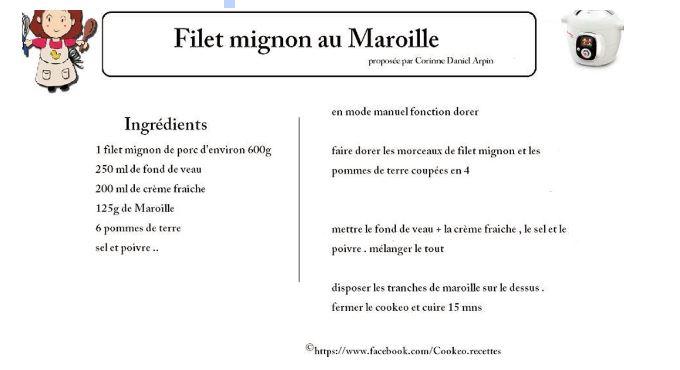 filet mignon cookeo maroille