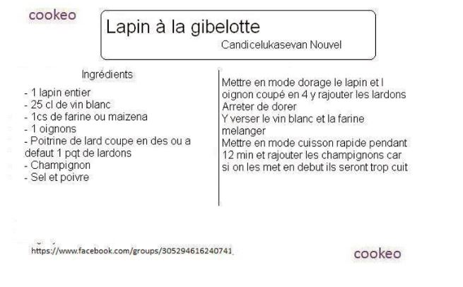lapin gibelote cookeo
