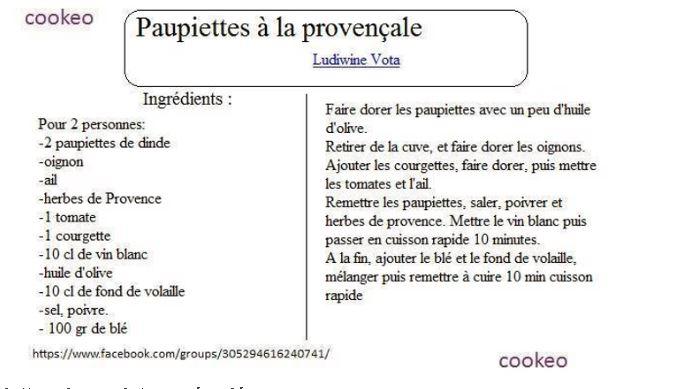 PAUPIETTES PROVENCALE