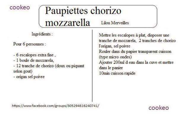 paupiettes chorizo cookeo
