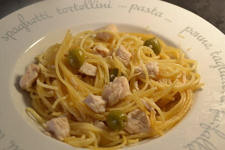 Spaghettis poulet olives cookeo
