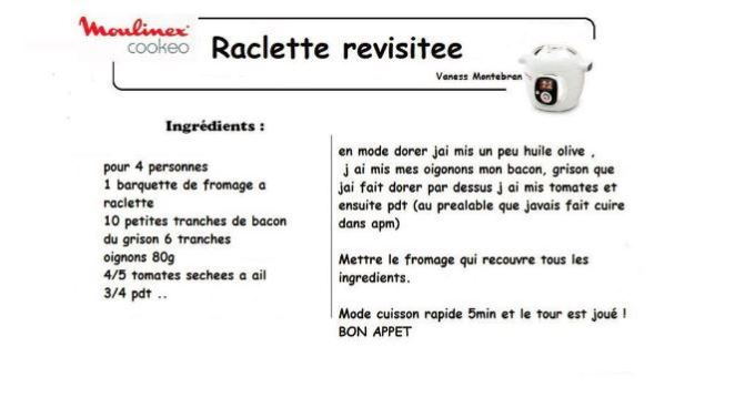 Raclette cookeo : vous avez déjà testé ?