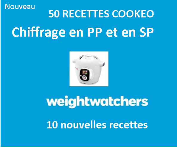 50 recettes weight watchers cookeo chiffrage SP ET PP