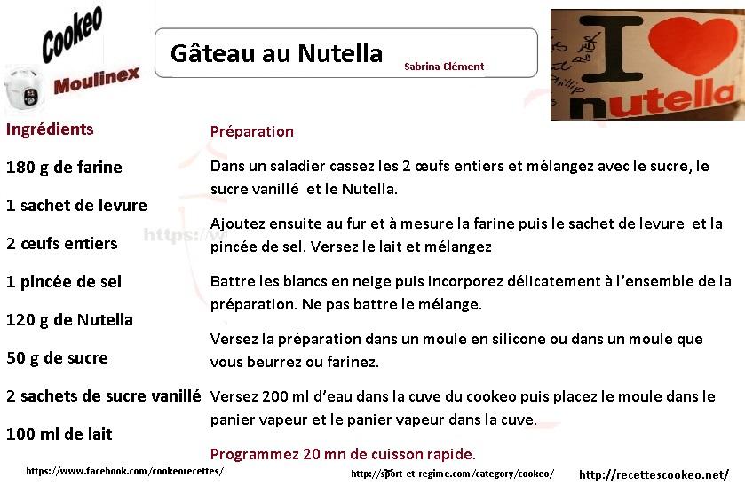 Gâteau Nutella cookeo : une idée dessert