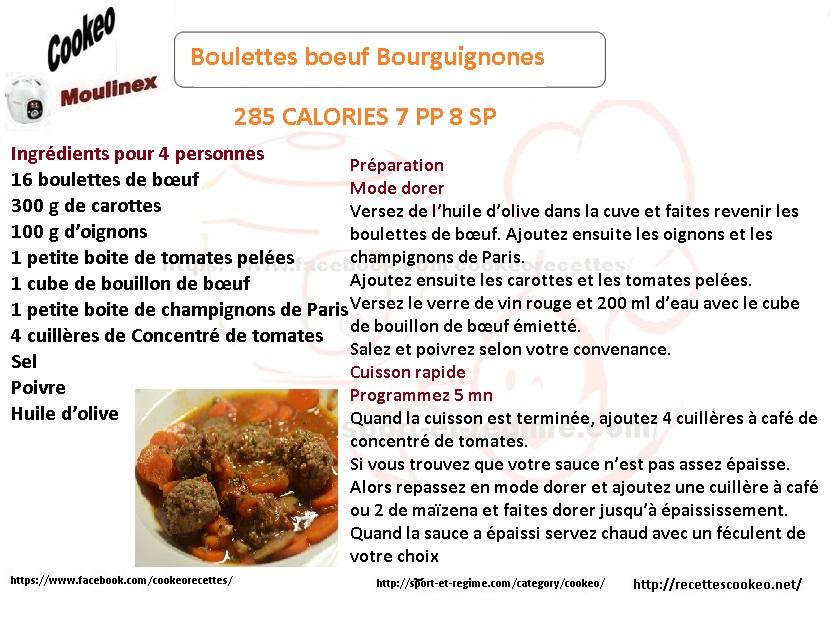 boulettes boeuf bourguignone