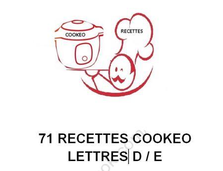 71 RECETTES COOKEO D ET E