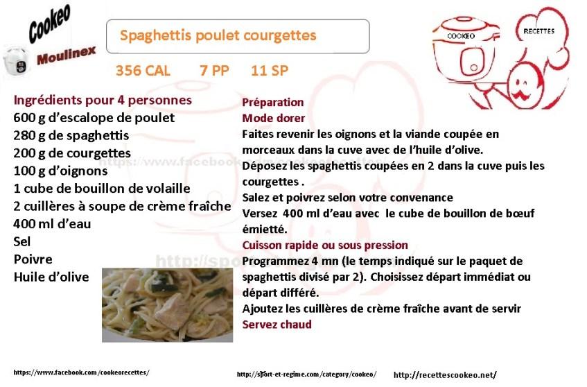 SPAGHETTIS POULET COURGETTES FICHE