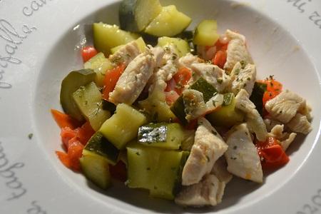 Poulet aux 3 légumes recette cookeo