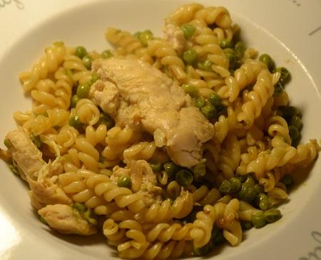 Pâtes poulet petits pois recette cookeo