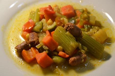 Couscous merguez légumes express