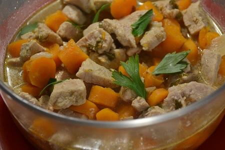 Escalopes porc carottes express recette Cookeo