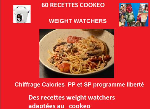 60 recettes cookeo weight watchers de JP PDF gratuit
