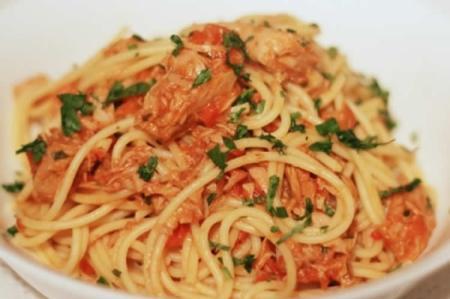 Pâtes sauce tomate et thon weight watchers adaptée cookeo