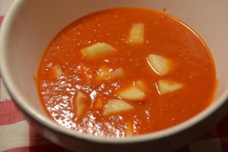 Soupe tomates pommes recette co