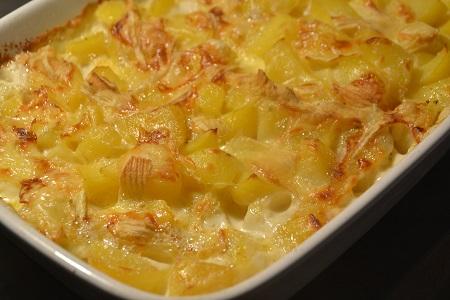 Gratin pommes de terre fromage tartiflette cookeo