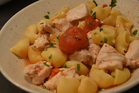 One pot pasta Pipe Rigate poulet recette  cookeo