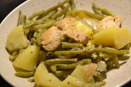 Haricots verts pommes de terre poulet cookeo
