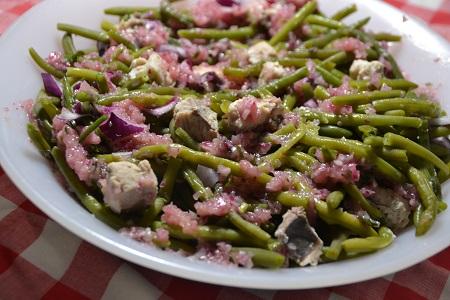 Salade haricots verts saumon cookeo