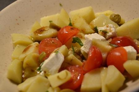 Salade pommes de terre tomates feta cookeo