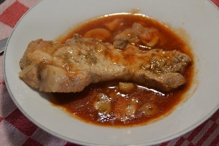 Côtes de porc sans os tomates cookeo