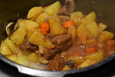 Boeuf vin rouge légumes recette cookeo