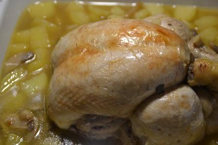Poulet entier pommes de terre cookeo