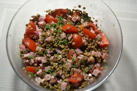 Salade lentilles jambon recette cookeo