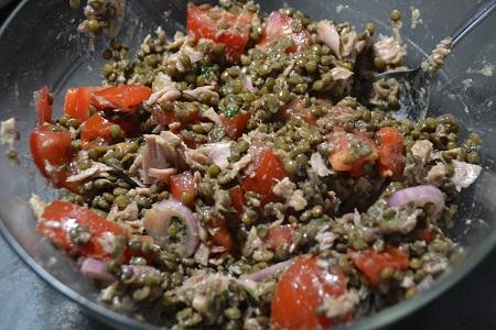 Salade lentilles thon recette cookeo