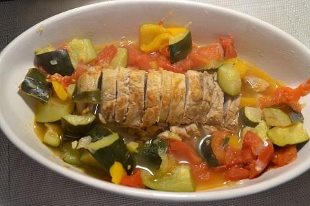 Filet mignon aux légumes d'été cookeo