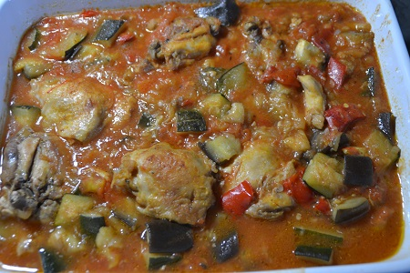 Hauts cuisses poulet ratatouille cookeo