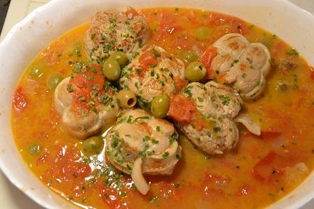 Paupiettes porc tomates recette cookeo