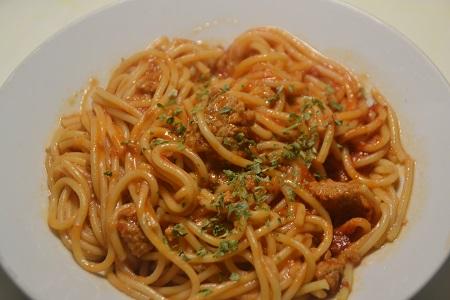 Spaghettis steaks hachés tomates cookeo