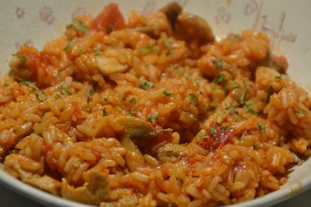 Emincés porc tomates riz recette cookeo