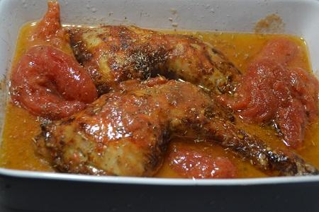 Cuisses poulet  tomates cookeo extra crisp