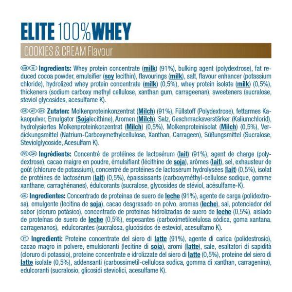 EliteWhey ingrédients