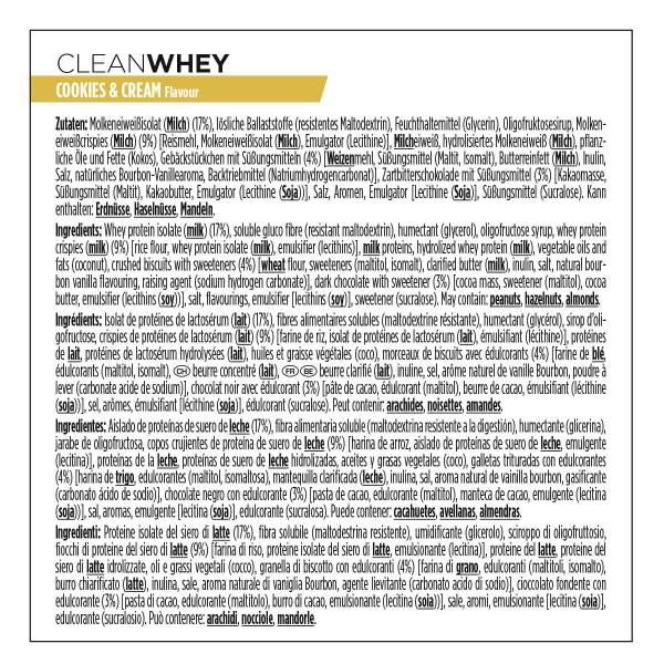 Nutrition sportive PowerBar. Composition